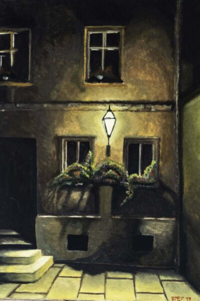 Night on the streets of Zagreb - 50x70cm-min